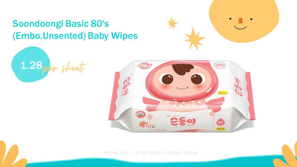 Soondoongi Basic 80's (Embo,Unsented) Baby Wipes