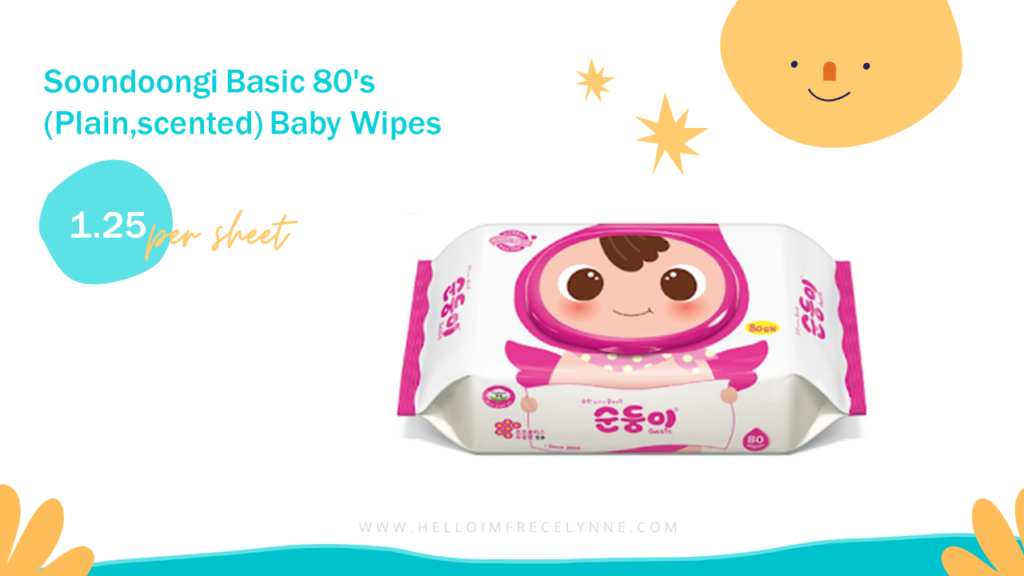 Soondoongi Basic 80's (Plain,scented) Baby Wipes