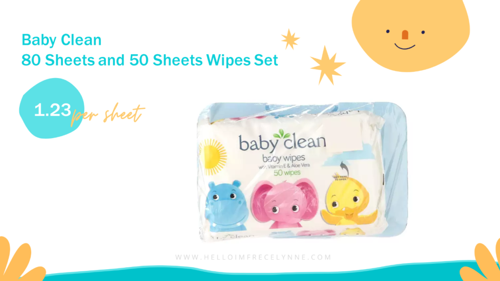 Baby Clean 80 Sheets and 50 Sheets Wipes Set