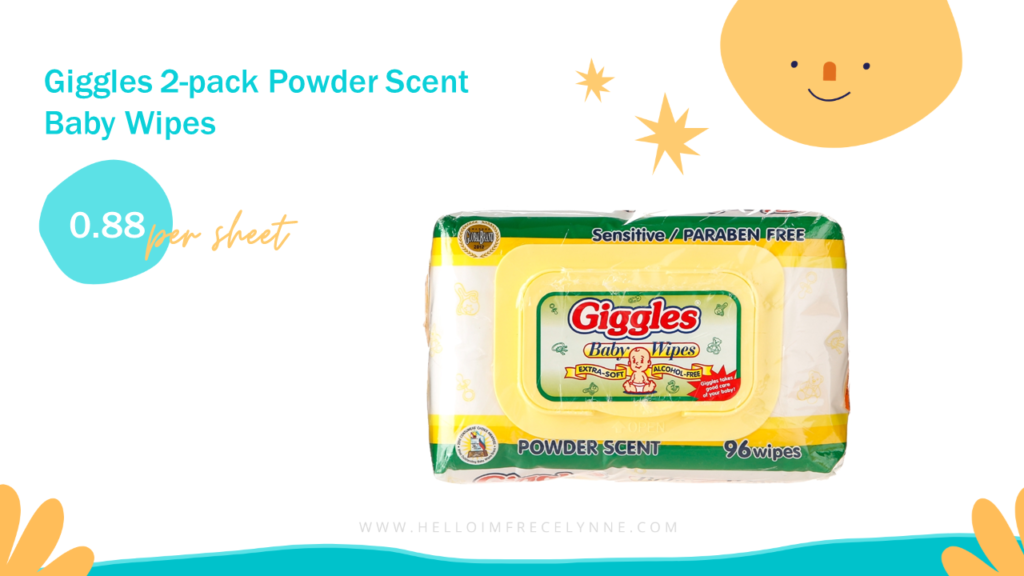 Giggles 2-pack Powder Scent Baby Wipes